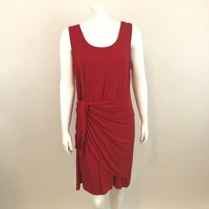 Style & Co Sleeveless Red Tie Front Dress S